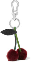 Autumn Cph - Stingray-trimmed Shearling Keychain - Merlot