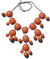 Best Orange Fashion Jewelry Statement Bubble Necklace with silver Tone Chain Fashion Jewelry - USA Seller!