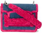 Miu Miu braided velvet denim shoulder bag