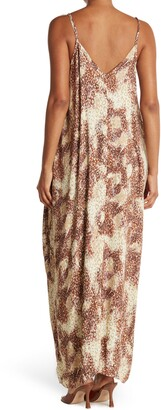 Love Stitch Printed Coccoon Maxi Dress
