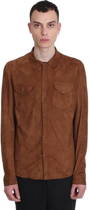 Salvatore Santoro Jacket In Leather Color Leather