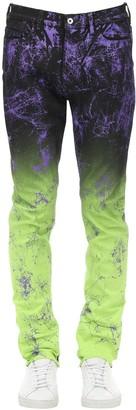 Mjb   Marc Jacques Burton Crixus Spray Painted Cotton Denim Jeans