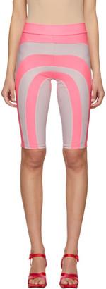 Paula Canovas Del Vas Pink Stretch Patchwork Biker Shorts