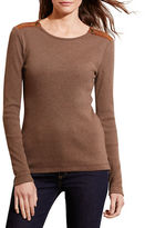 Lauren Ralph Lauren Petite Cotton Zip-Shoulder Tee