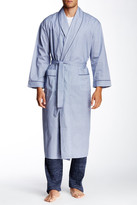 Majestic Long Sleeve Piped Trim Full Length Robe