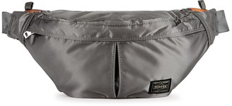 Porter Grey padded nylon belt bag