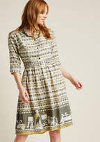 Palava Cinematic Story Shirt Dress with Pockets in 10 (UK) - A-line Midi by Palava from ModCloth