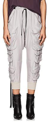 Taverniti So Ben Unravel Project BEN UNRAVEL PROJECT WOMEN'S WASHED SILK CARGO PANTS