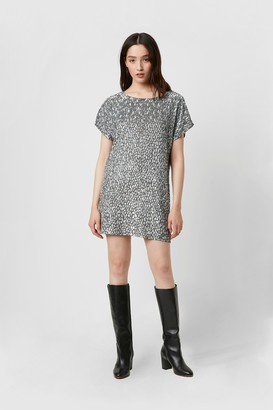French Connenction Aatami Embellished T-Shirt Dress