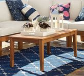 Pottery Barn Hampstead Teak Rectangular Coffee Table - Honey