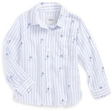 Rails Toddler Girl's Cora Mermaid Stripe Button Front Shirt