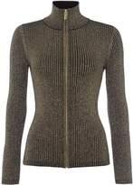 Biba Rib knit zip up jumper