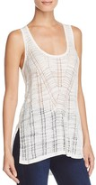 French Connection Geo Stitch Tank Top