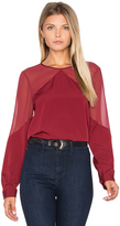 1 STATE Sheer Yoke Blouse
