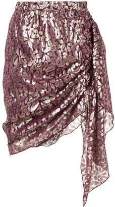 Romance Was Born Disco Paisley Wrap Skirt