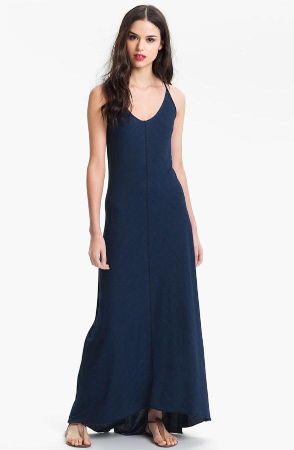 AG Jeans Indigo Jersey Maxi Dress