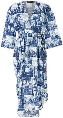 Andrea Marques V-Neck Midi Dress