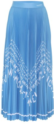 Valentino Exclusive to Mytheresa printed jersey pleated midi skirt