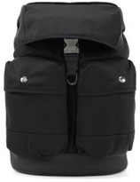 HUGO BOSS - Multi Pocket Backpack In Nylon Gabardine With Flap Closure - Black