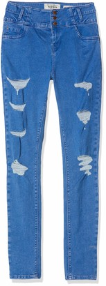 New Look 915 Girl's Phillip Extreme Rip Jeans