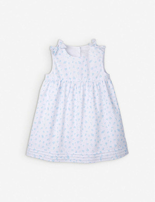 The Little White Company Floral-print cotton dress 0-24 months
