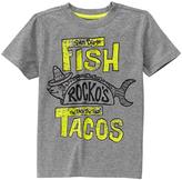 Gymboree Classic Gray Heather 'Fish Tacos' Tee - Boys