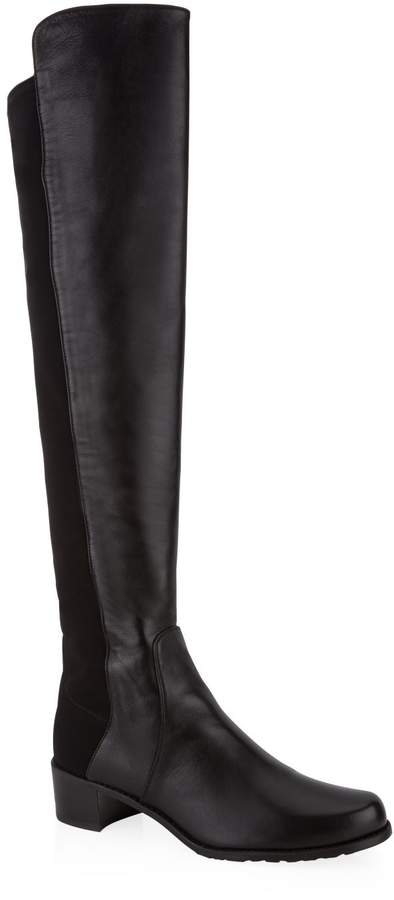 Stuart Weitzman Leather Reserve Over-The-Knee Boots 40