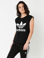 adidas New Womens Boyfriend Trefoil T Shirt In Black Tops & T Shirts