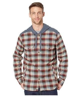 Marmot Oheny Heavyweight Flannel Hoodie (Brick/Steel Onxy) Men's Clothing
