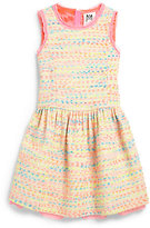 Milly Minis Girl's Neon Flecked Tweed Dress