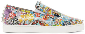 Christian Louboutin Multicolor Pik Boat Sneakers