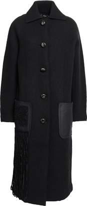 Proenza Schouler Fringed Twill-paneled Wool-blend Boucle Coat