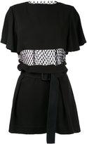 Toga Pulla fishnet detail dress
