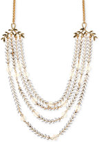 lonna & lilly Gold-Tone Multi-Row Beaded Statement Necklace