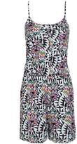 Select Fashion Fashion Womens White Aztec Jersey Playsuit - size 6