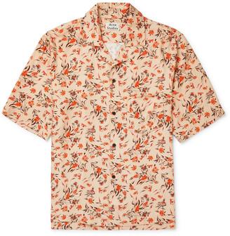 Acne Studios Camp-Collar Floral-Print Twill Shirt