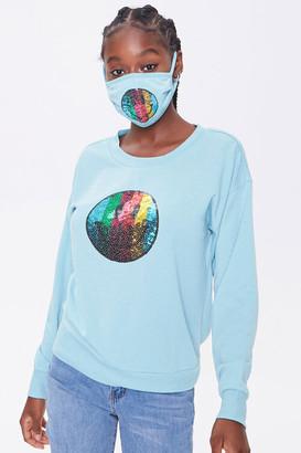 Forever 21 Sequin Heart Top Face Mask Set