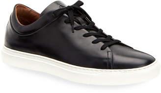 Aquatalia Men's Alaric Leather Low-Top Sneakers