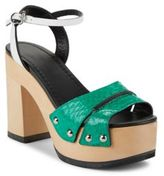 McQ Block-Heel Leather Sandals