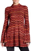 Free People Zig-Zag Knit Sweater Tunic