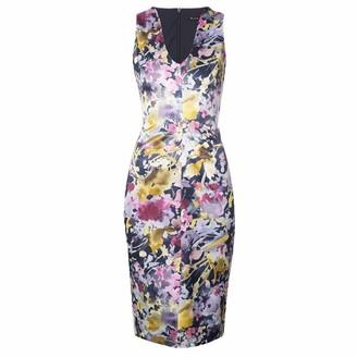 Black Halo Women's Coral Printed Sheath Dress