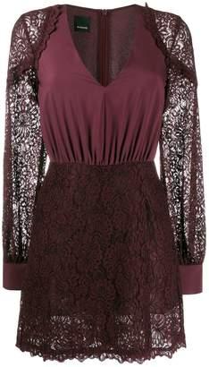 Pinko floral lace V-neck dress