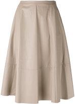Drome panelled skirt - women - Lamb Skin/Cupro - L