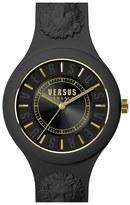 Versus By Versace 'Fire Island' Round Rubber Strap Watch, 39mm