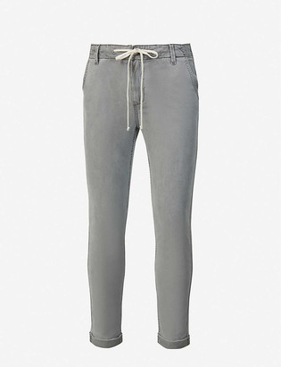 Paige Christy straight-leg mid-rise stretch-denim jeans