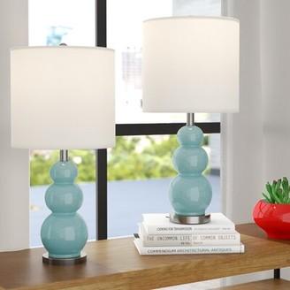 """Brayden Studio Moorer Gourd 20"""" Table Lamp Set Brayden Studio"""