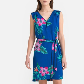 Pepe Jeans Vera Floral Print Dress with Tie-Waist
