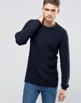 Selected Basket Stitch Knitted Sweater
