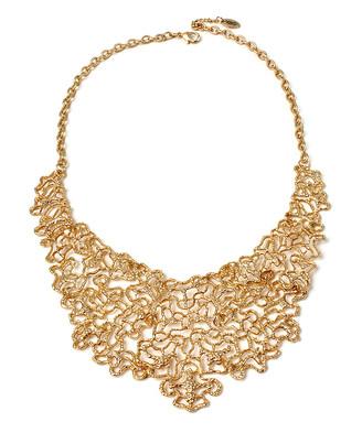 Amrita Singh Women's Necklaces Gold - Goldtone Filigree Bib Necklace
