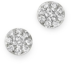 Bloomingdale's Diamond Circle Tiny Stud Earrings in 14K White Gold, 0.5 ct. t.w. - 100% Exclusive
